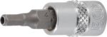 Bit Socket Set 6.3 mm (1/4) Drive Internal Hexagon Tamperproof 2 - 7 mm | 8 pcs