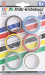 6-piece Color Tape Rolls