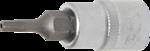 Bit Socket 6.3 mm (1/4) Drive T-Star tamperproof (for Torx)