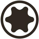 Bit length 75mmL (3/8) external hexagon T profile (for Torx)