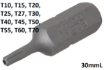 Bit Socket (5/16) Drive T-Star tamperproof (for Torx)
