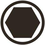 Bit length 75mmL (3/8) Drive internal Hexagon