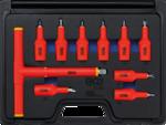 VDE Bit Socket Set 12.5 mm (1/2) Drive T-Star T20 - T55 10 pcs