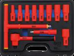 VDE Socket Set 10 mm (3/8) Drive 7 - 22 mm 12 pcs