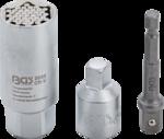 Multi Socket with Adaptor Set (3/8) Drive 9 - 21mm 3 pcs