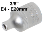 Socket, E-Type (3/8) Drive