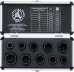 10-piece Special Twist Socket Set, 9-19 mm, 3/8