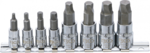 Screw Extractor Set (1/4) / (3/8) Drive for damaged Internal Hexagon 3 - 10mm 8 pcs