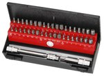 Bit set with bore hole shank guide 44-piece