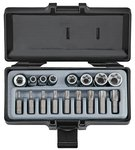 Star tamperproof socket & bit set 17pc