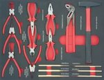 Filled tool trolley 250-piece