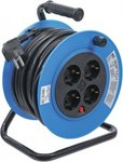 Cable Reel 15 m 3x1,5 mm² 4 Socket Outlets IP 20 3000 W
