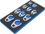 Tool Tray 1/3: Crowfoot Spanner Set 10 mm (3/8) / 12.5 mm (1/2) / 20 mm (3/4) 10 pcs