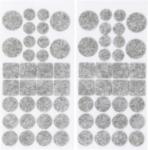 Felt Pads Set tinged with gray  64 pcs
