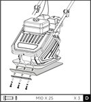Vibratory plate 13kn 6.5hp