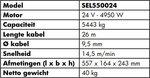 Winch 24V, 5443kg 4.95kw 26m IP68