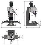 Drill milling machine 450x200x430