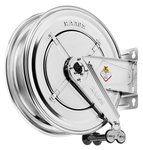Industrial reels hot water 400 bar stainless steel, without hose