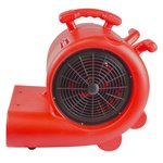 Pack BDE95 construction dryer and RV3000 floor fan