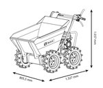 Mini dumper with tipper 300kg