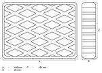 Bgs technic Rubberen pad  voor hefplatforms  160 x 120 x 30 mm
