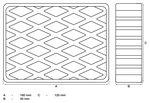 Bgs technic Rubberen pad  voor hefplatforms  160 x 120 x 40 mm