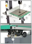 Vertical band saw 1,5KW