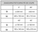 Stationary band saw - diameter 200 mm -45°/+60°