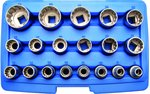 Socket Set, Gear Lock 12.5 mm (1/2) drive 19 pcs
