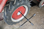Four-Way Wheel Wrench for trucks, foldable, 24x27x32x3/4 square
