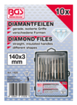 Diamond File Set straight 140 x 3 mm 10 pcs