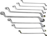 Double Ring Spanner Set | offset | 6x7 - 20x22 mm | 8 pcs.