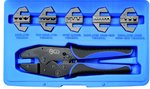 Crimping Tool Set with 5 Pairs of Jaws