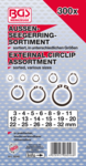 External Circlip Assortment Ø 3 - 32 mm 300 pcs.