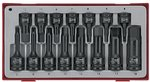 Impact socket set 1/2 & 3/8 tx-tc-tray 15pcs