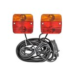 Trailer lights with magnets 7,5+2,5M cable
