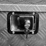 Trailer tool box aluminium 830/540 x 360 x H490mm