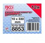 Grinding Belt 10 mm x 330 mm 12 pcs for BGS 8853
