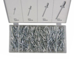 Aluminum Rivet Assortment 500pc