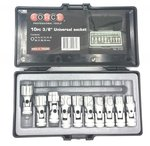 3/8 Universal socket set 10pc