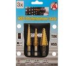 3-piece HSS Step Drill Set, 3-20 mm