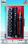 26-piece Bit and Socket Angle Screwdriver Set