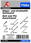 750-piece Nail and Pin Assortment