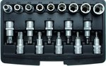 19-piece 1/2 T-Star Bit Socket & E-Type Socket Set