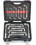 Angle wrench set 17pc