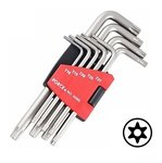 Star tamperproof long key set 9pc
