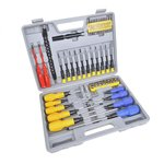Screwdriver, bit and socket set 70-piece