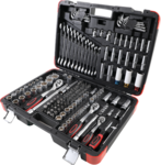 Socket Set  6.3 mm (1/4 inch) / 10 mm (3/8 inch) / 12.5 mm (1/2 inch) drive  176 pcs.