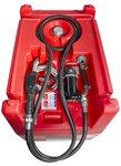 Red diesel tank pe 220i, 12v 40l pump, hose + gun