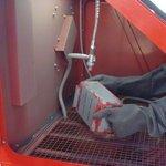 Sandblast cabinet 350 liter